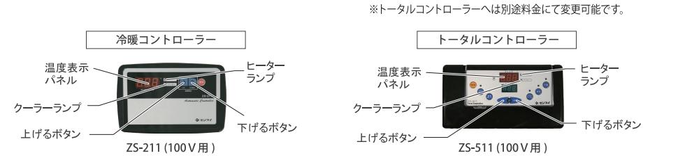 ZCWシリーズ付属コントローラー