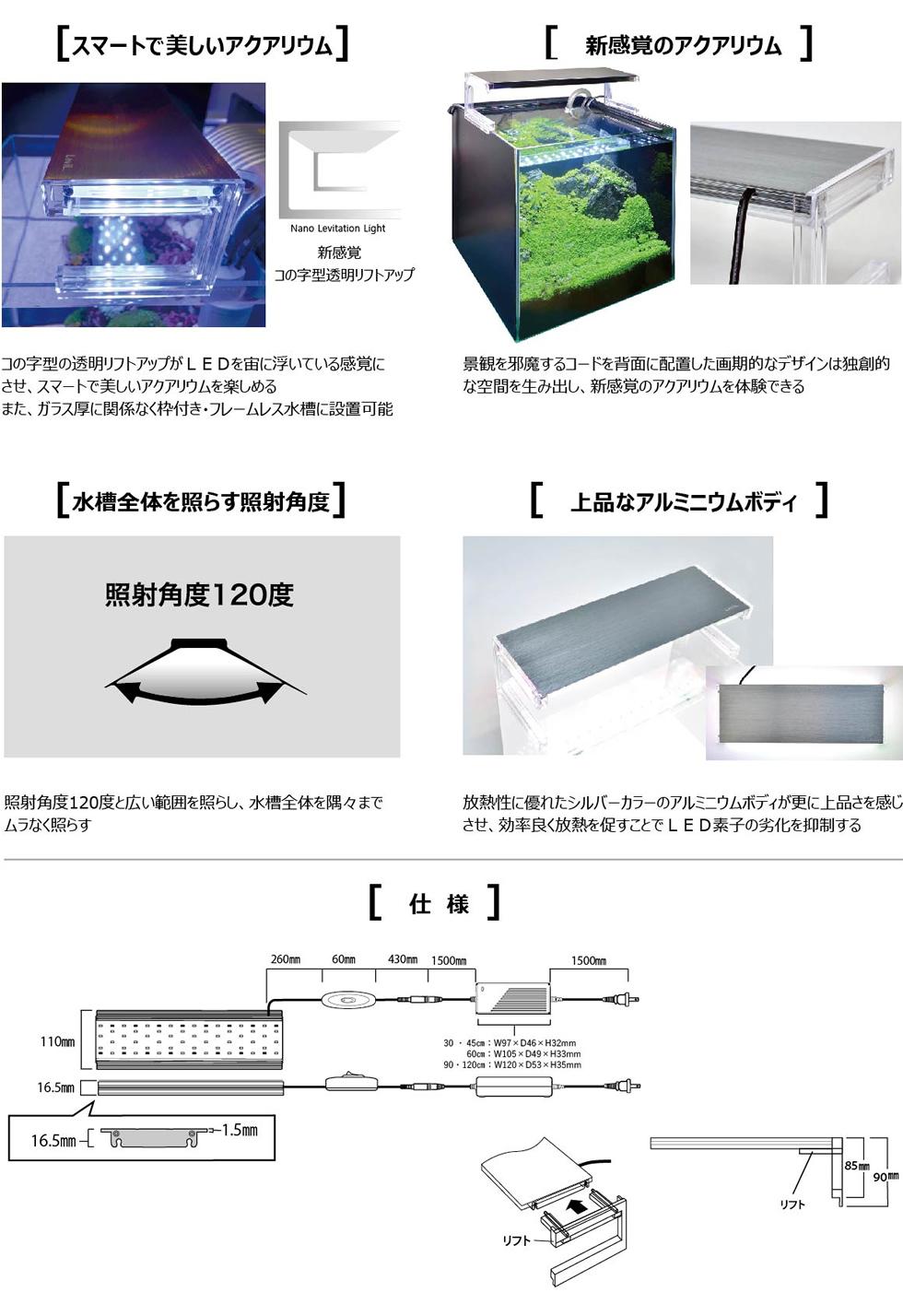 LEVIL / ナノ レビル 仕様