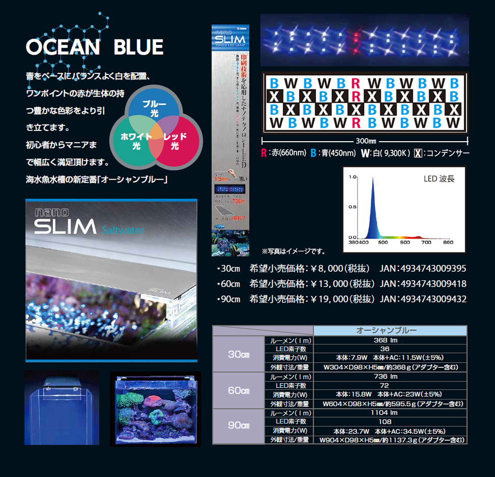 OCEAN BLUE / オーシャンブルー nanoSLIM / ナノスリム