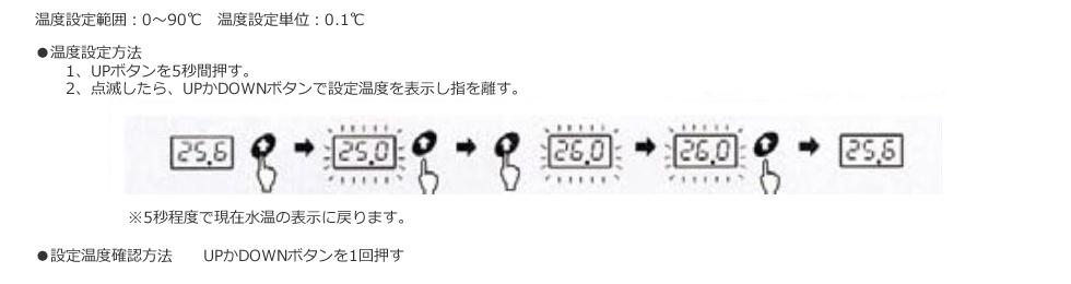 温度設定方法・設定温度確認方法